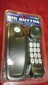 New Conair Forest Green Big Button Phone Desk or Wall Mount Illuminated Keypad