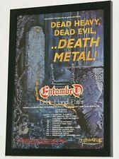 More details for entombed framed a4 1990 `left hand path` album original band promo art poster