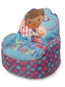 Disney Doc McStuffins Kids and Toddlers Sofa Bean Bag Chair, Made In USA