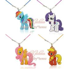 4PCS My little Pony PVC Chain Necklace Pendant Aaccessories Kids Party gift