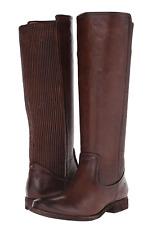 NIB $458 Frye Melissa Scrunch SLATE Dark Brown Boots Womens 7 M