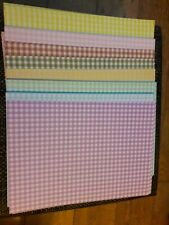 Approx 55 sheets of A4 Checked/gingham Cardstock