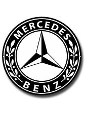 "MERCEDES BENZ ROUND 11"" METAL SIGN"