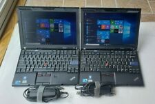 Lot of 2 Lenovo Thinkpad X201 Core i5 M 520 2.40GHz 320GB HDD 6GB RAM WEBCAM