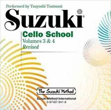 Suzuki Cello School Volumes 3 & 4 Revised Audio CD