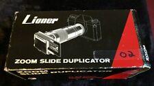 Lioner ZOOM Slide Duplicator for SLR Cameras Variable Magnification