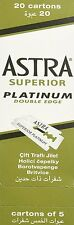 100 piece  100  Astra Superior Platinum Double Edge Safety Razor Blades