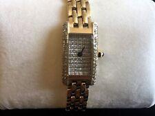 QVC 14ct Yellow Gold 1ct Diamond Heavy Bracelet Watch