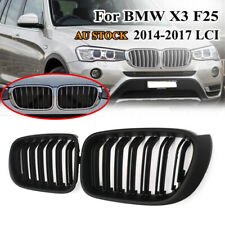 For BMW X3 F25 Facelift LCI X4 F26 14-17 Matte Black Front Kidney Grill Grilles
