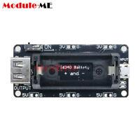 Micro USB 3.3V 5V 16340 Mobile Power Li-ion lithium Battery Holder for Arduino
