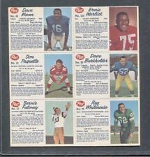 1962 Post Cereal Canadian Football Uncut Panel (Mann, Faloney, Warlick)