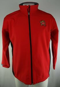 University of Maryland Terrapins NCAA Pro Edge Men's Red Full-Zip Jacket