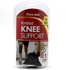 """4x Knee Support Brace Protection Brace Compression Sleeve S/M 9.5-10.5"""" Flexible"""