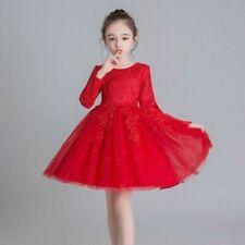 Lace Long Sleeve Girls' Tutu Dress