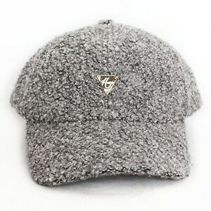 Hater Charcoal Boucle Strapback Dad Hat Cap Snapback Sherpa NEW