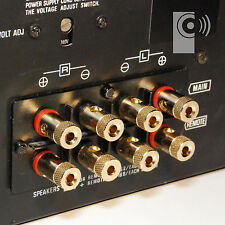 10 x Hi-Fi Binding Posts Gold Plated 4mm Banana Plug Speaker Socket (BI1)