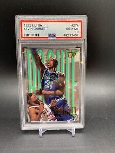 1995-96 Ultra Kevin Garnett Rookie RC PSA 10 Gem Mint Timberwolves HOF
