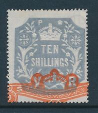GB fiscal embossed 10/- stamp