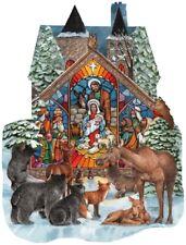 Jigsaw Puzzle Seasonal Christmas Forest Nativity Freeform 1000 pieces NEW USA