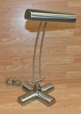 Genuine Tensor (FS125) Brushed Stainless Steel Piano Desk Lamp Only **READ**