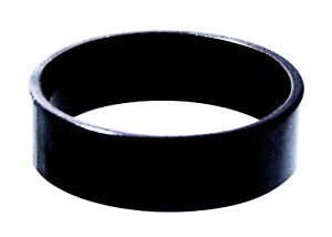 Ring schlicht schwarz Edelstahl eckig 6 mm Fingerring