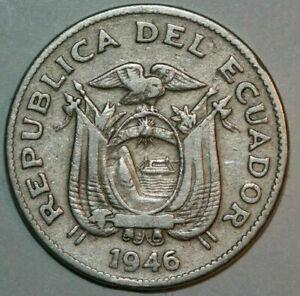 1946 Ecuador 20 Centavos coin Peace with the National arms Age 75 KM#71.1b .....