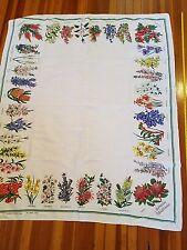 Vintage Kitchen Tablecloth, Beautiful Flowers spring 59 x 47 EUC