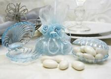 Clear Blue Plastic Clam Shell Favor Box - 12 Pieces