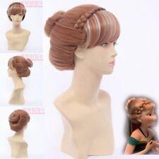 Newest Disney Frozen Anna Styled Coronation Cosplay Wig hand made bun cos Hair