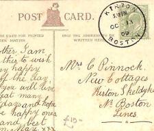 CB174 1909 GB LINCS Superb *Kirton Boston* Village Skeleton CDS Postcard