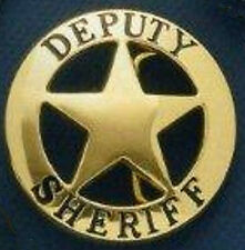 Solid Brass Deputy Sheriff Badge Belt Buckle