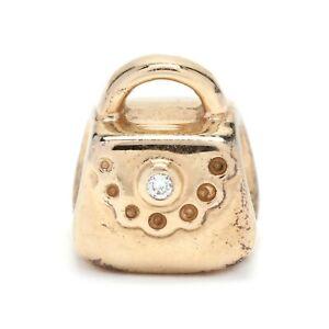 Pandora 14K Yellow Gold Diamond Purse Charm
