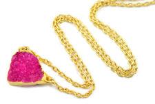 1 Piece Pink Druzy Cabochon 24k Gold Electroplated Edges Fancy Gemstone Pendant