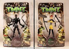2007 TMNT APRIL O'NEIL & FOOT NINJA MOC*NEW- PLAYMATES
