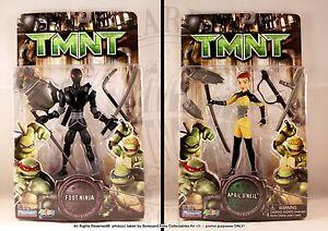 2007 TMNT APRIL O'NEIL & FOOT NINJA MOC*NEW- PLAYMATES