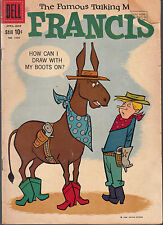 FRANCIS #1090 1960 DELL [FAMOUS TALKING MULE] 4-COLOR -CARTOON COMEDY- GD+