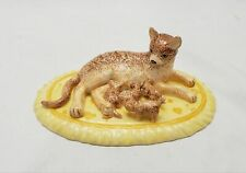 Royal Doulton Animals Abyssinian Cat & Kittens Figurine 2004