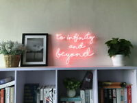 New To Infinity And Beyond Neon Sign For Bedroom Wall Home Decor Art With Dimmer