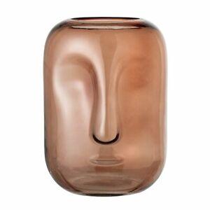 Bloomingville Glass Face Vase - Brown 25cm