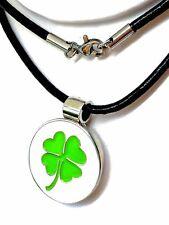 Magnetic Golf Ball Marker Pendant / Necklace - 4 Leaf Lucky Clover. USA Seller