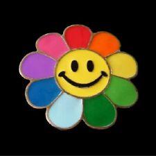 Belt Buckles Boucle de Ceinture Happy Colorful Smiling Flower Sunflower Rainbow