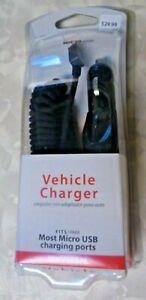 New Verizon Wireless Universal Mini UBS Vehicle Charger Black Micro USB