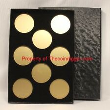 1 Air-tite Coin Storage Box Capsule Holder for 8 MODEL H Insert Gold Reflector