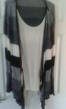 Nautical cardigan with cream inset - New