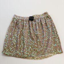 NEW Mustard Seed Metallic Gold /& Sheer Black Skirt D1-17