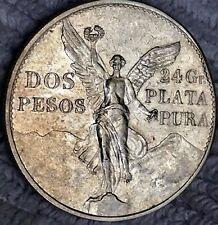 1921   MEXICO $2 PESOS 1921 ANGEL DE LA INDEPENDENCIA  SILVER