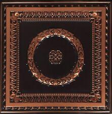 # 210 - Antique Copper 2 'x 2' PVC Decorative Ceiling Tile Glue Up/Grid