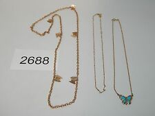 Vintage Jewelry LOT OF 3 Necklaces SARAH COV AVON GOLD TONE 2688