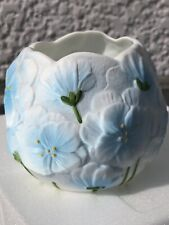 Light blue and white flower vase porcelain