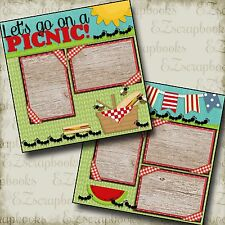 PICNIC - 2 Premade Scrapbook Pages - EZ Layout 78